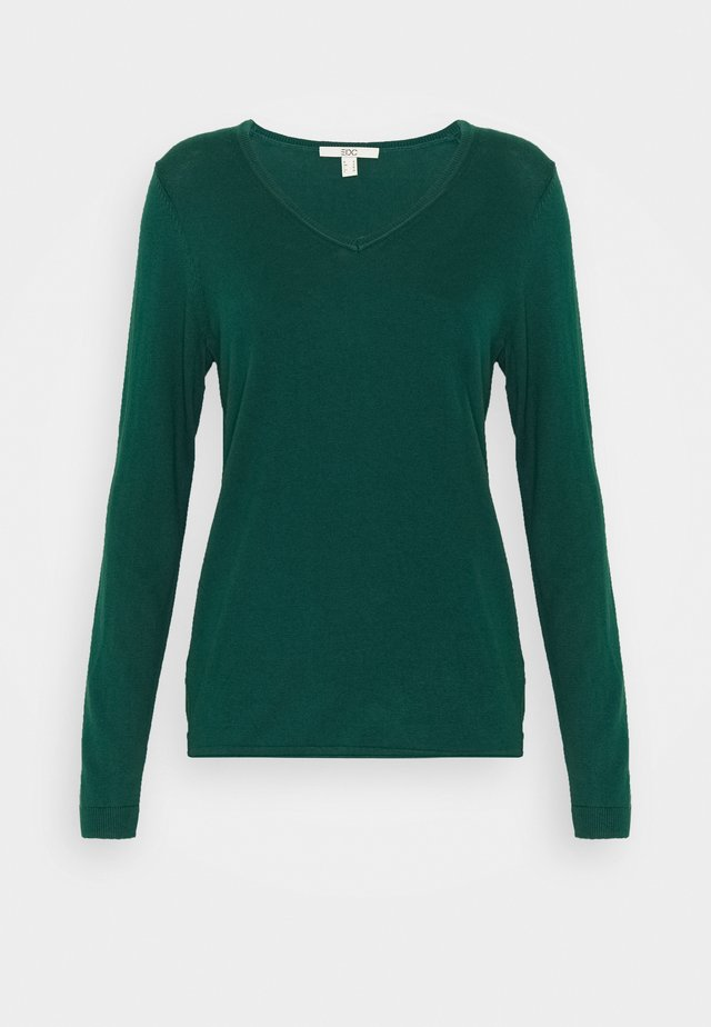 Pullover - dark teal green