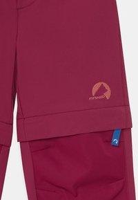 Finkid - URAKKA MOVE 2-IN-1 UNISEX - Outdoorové kalhoty - beet red - 3
