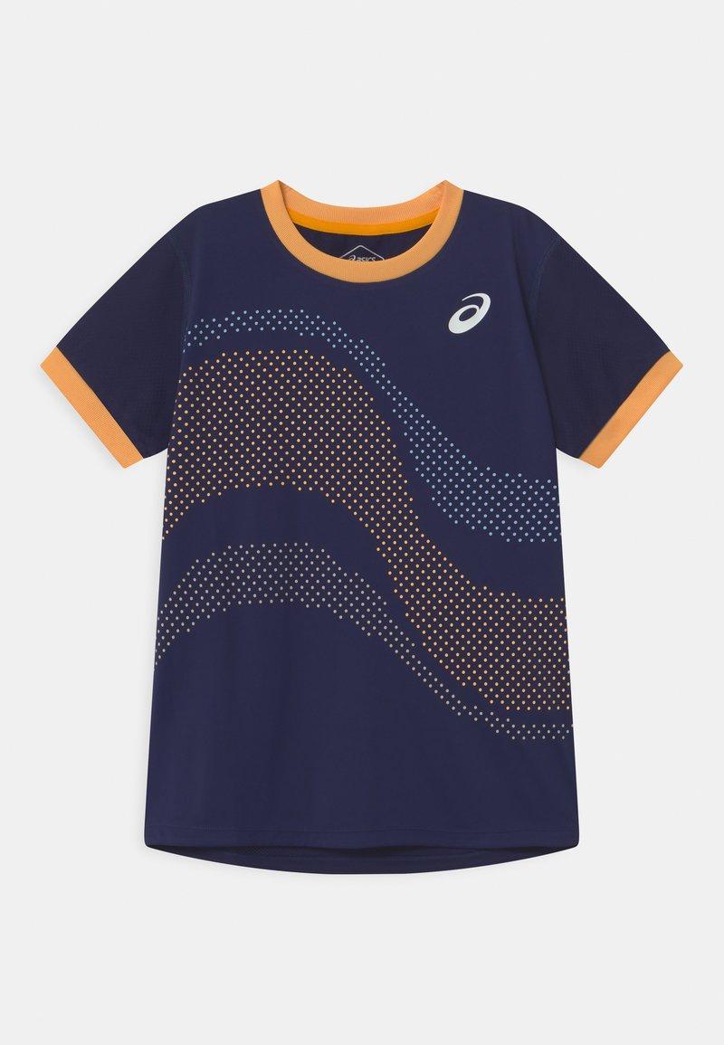 ASICS - TENNIS UNISEX - Print T-shirt - peacoat