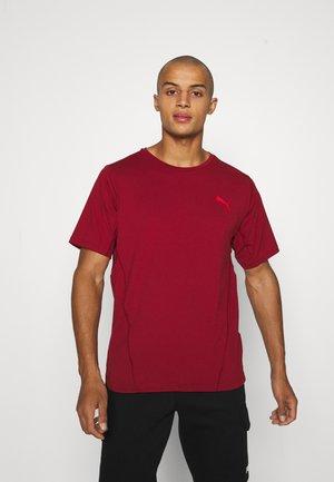 TRAIN CLOUDSPUN TEE - T-shirt imprimé - intense red