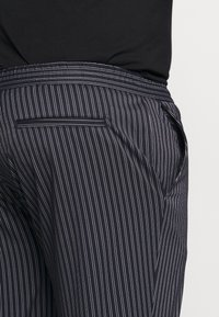 Topman - STRIPE WHYATT - Trousers - dark blue/white - 3