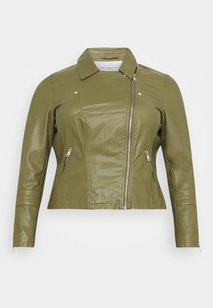 CAREMMY BIKER - Faux leather jacket - capulet olive