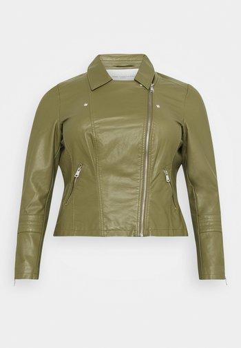 CAREMMY BIKER - Faux leather jacket - capulet olive