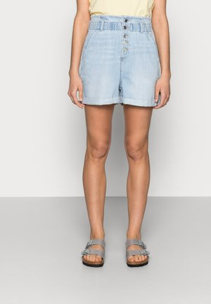 TAYLOR - Denim shorts - bleach lt denim