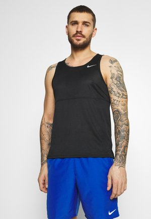 RUN TANK - Top - black/silver