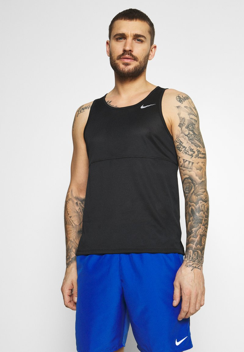 Nike Performance - RUN TANK - Top - black/silver