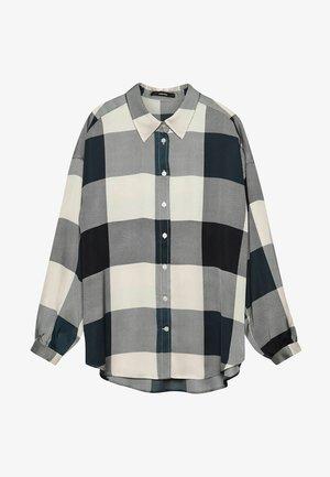 "DAMEN ""ZOVER CHECK"" LANGARM - Button-down blouse - aqua (53)"