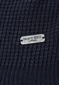 Brave Soul - HERMES - Trui - dark navy/dark burgundy - 5
