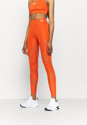 PAMELA REIF X PUMA MID WAIST LEGGINGS - Tights - burnt orchre