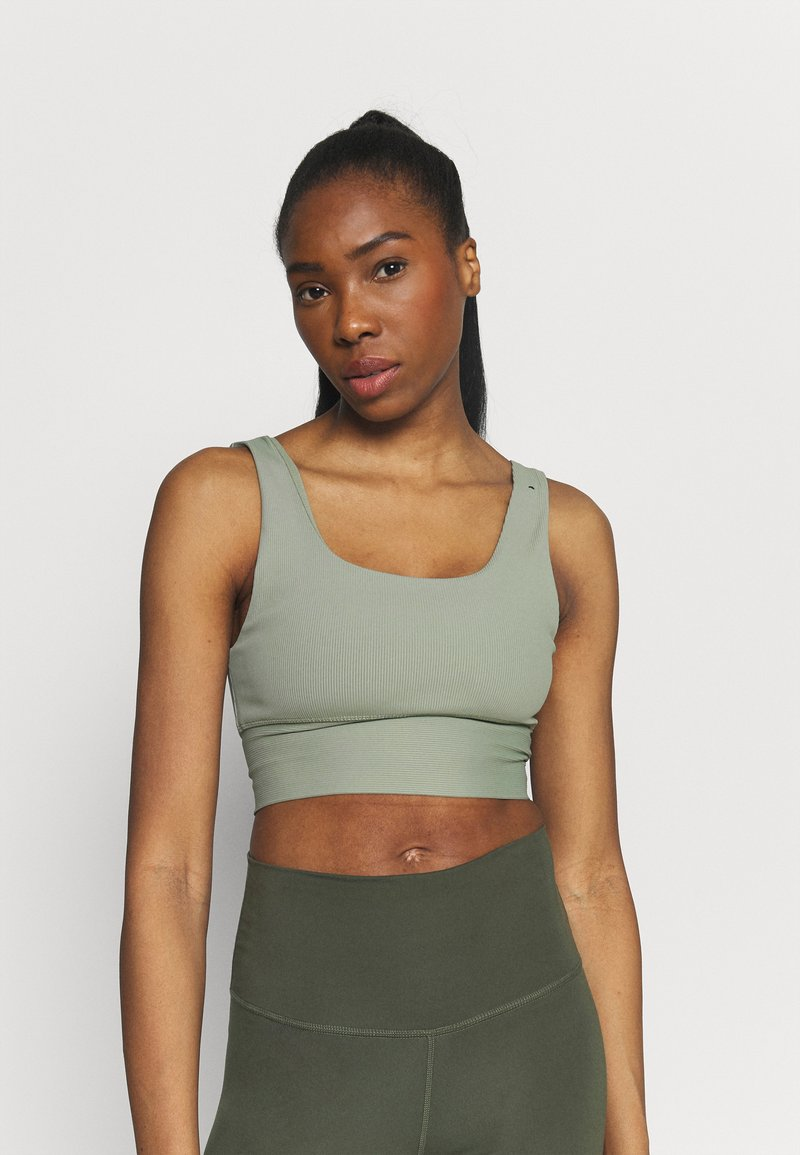 Cotton On Body - SCOOP NECK VESTLETTE - Top - basil green rib
