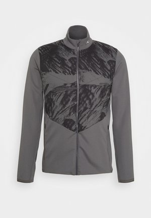 MEN RELEASE PRINTED JACKET - Softshellová bunda - steel grey/dark dusk