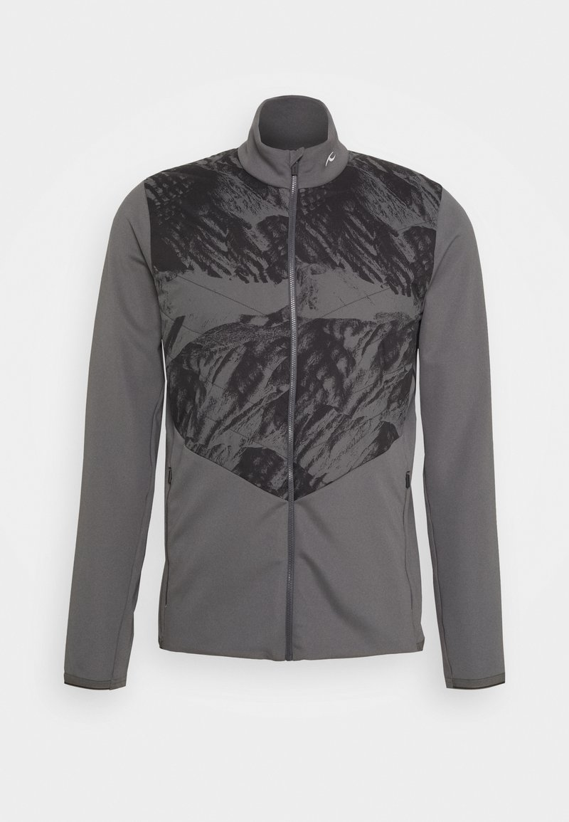 Kjus - MEN RELEASE PRINTED JACKET - Soft shell jacket - steel grey/dark dusk