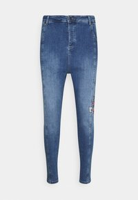 SIKSILK - AOKI DROP CROTCH EMBROIDERED - Slim fit jeans - midstone blue - 3