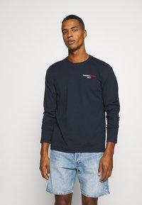 Tommy Jeans - LONGSLEEVE CORP - Långärmad tröja - twilight navy - 0