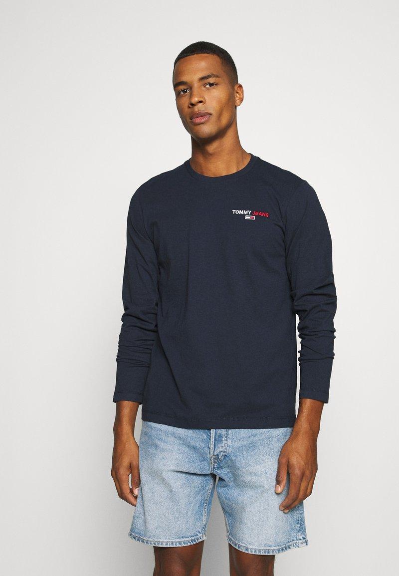 Tommy Jeans - LONGSLEEVE CORP - Långärmad tröja - twilight navy