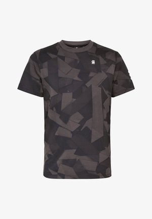 TAPE CAMO AOP ROUND SHORT SLEEVE - T-shirt print - raven tape camo