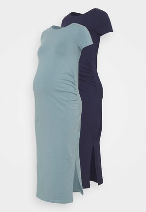 2 PACK - Jersey dress - dark blue/teal