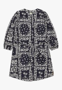 Scotch & Soda - CRISPY SHIRT DRESS WITH TIE - Košilové šaty - dark blue/white - 0