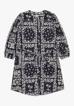 CRISPY SHIRT DRESS WITH TIE - Vestido camisero - dark blue/white