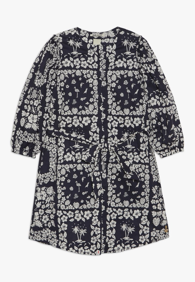 Scotch & Soda - CRISPY SHIRT DRESS WITH TIE - Košilové šaty - dark blue/white