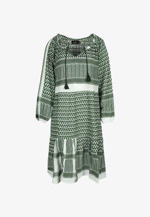 VALENTINA - Day dress - khaki/weiß