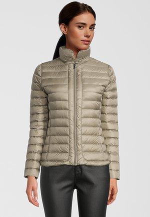 LARGE COLLAR - Down jacket - beige fonce