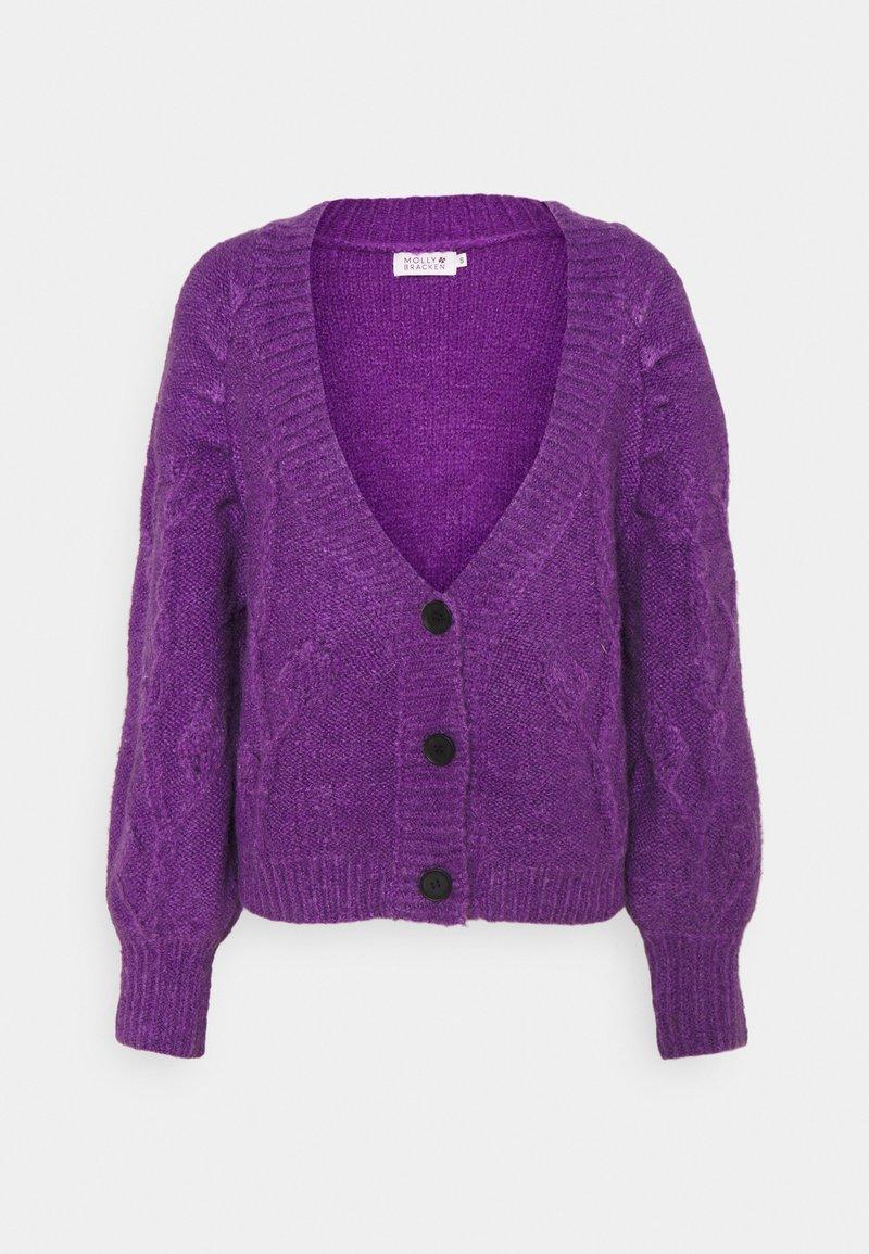 Molly Bracken - LADIES CARDIGAN - Cardigan - purple