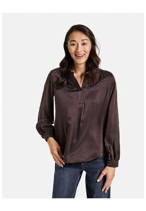 Long sleeved top - dark chestnut