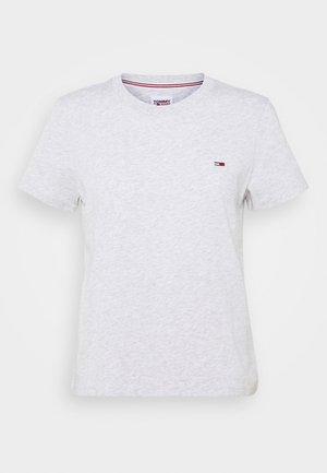 REGULAR C NECK - Basic T-shirt - silver grey heather