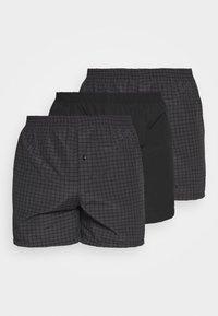 Pier One - 3 PACK - Boxer shorts - black - 0