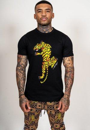 TIGER GROWL T-SHIRT - Print T-shirt - black