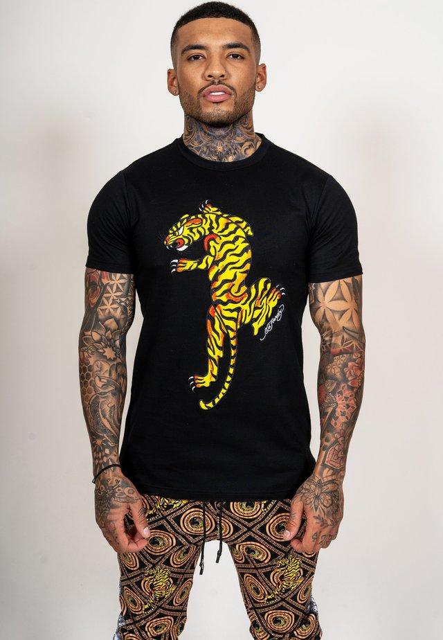TIGER GROWL T-SHIRT - T-shirt print - black