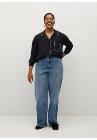 Violeta by Mango - PIPING - Button-down blouse - schwarz - 1