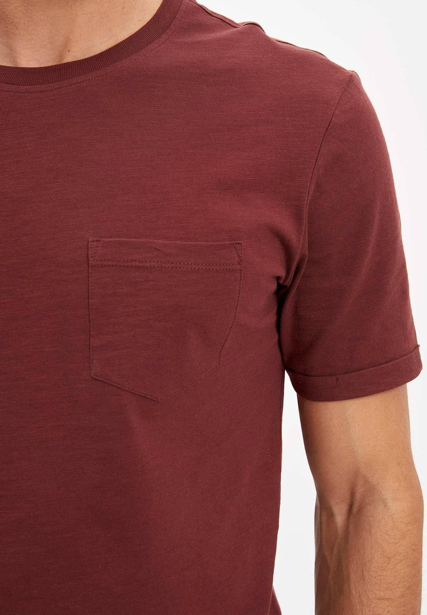 DeFacto Basic T-shirt - brown Vr79v