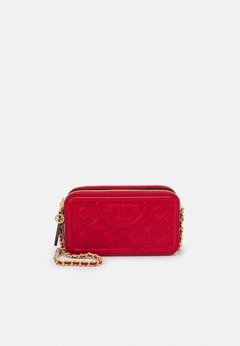 FLEMING DOUBLE ZIP MINI BAG - Across body bag - bearberry
