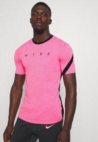 Nike Performance - DRY ACADEMY TOP - T-shirt print - hyper pink/black/white - 0