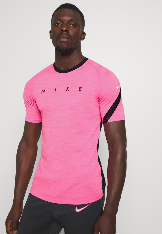 DRY ACADEMY TOP - Camiseta estampada - hyper pink/black/white