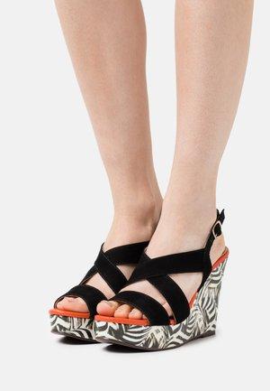 MOICIA OBA - Korkeakorkoiset sandaalit - multicolor