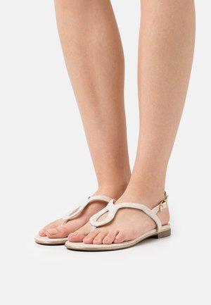 LONGLEY - T-bar sandals - natural