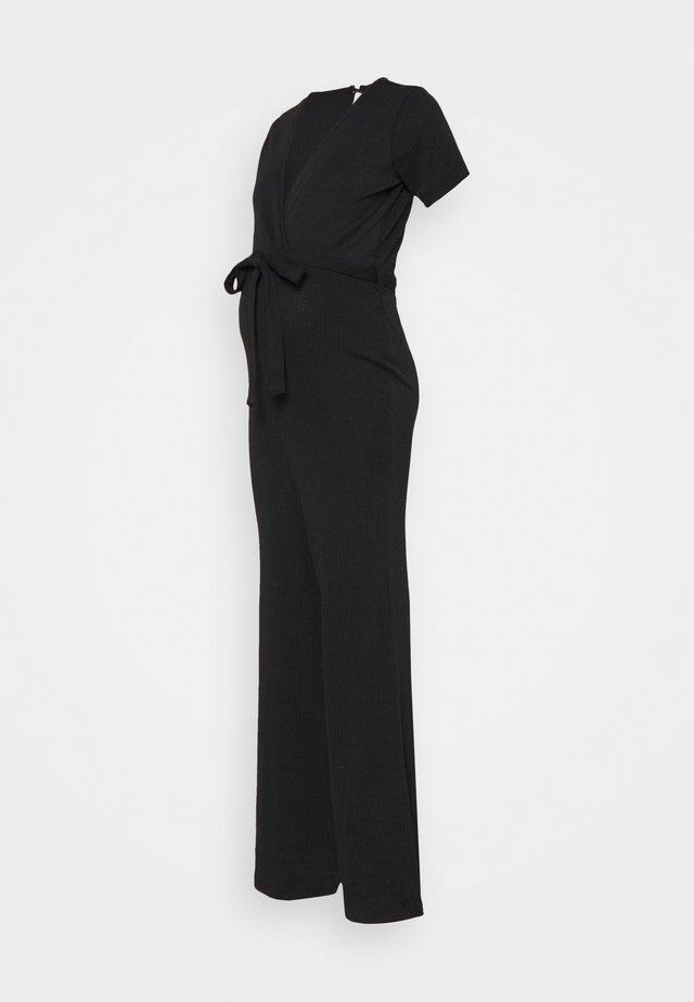 WRAP BELTED - Jumpsuit - black