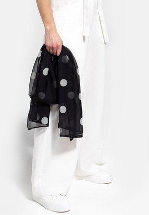 Sciarpa - black with white polka dots