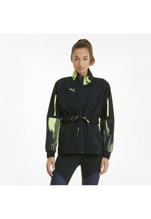 Light jacket - asphalt black fluo yellow