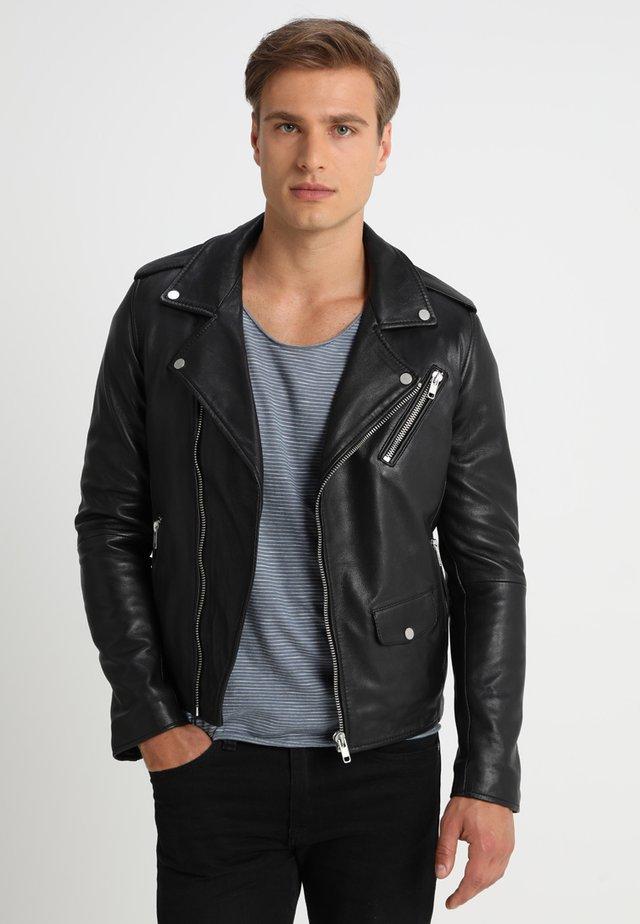 ROCKY - Leren jas - black
