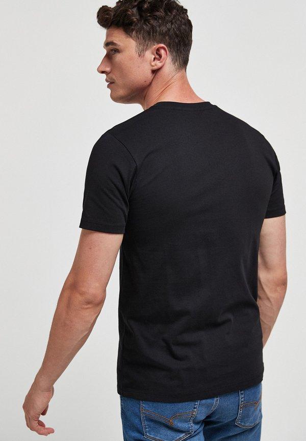 Next 5 PACK - T-shirt basic - black/czarny Odzież Męska KXAS