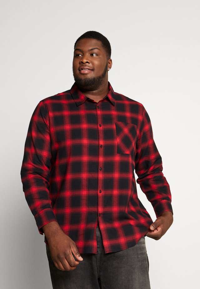 OVERSIZED CHECK - Shirt - black/red