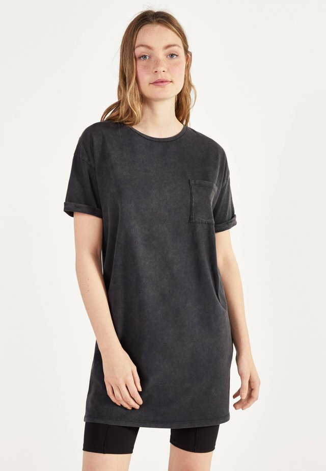 IM ACID-WASH-LOOK - Day dress - light grey