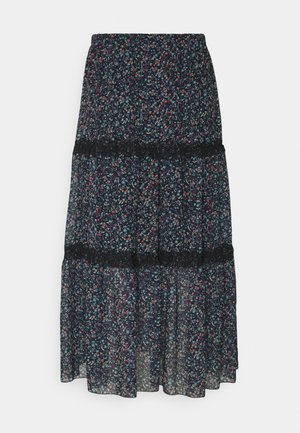 Maxi skirt - multicolor blue