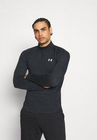 Under Armour - STREAKER HALF ZIP - Sports shirt - black - 0