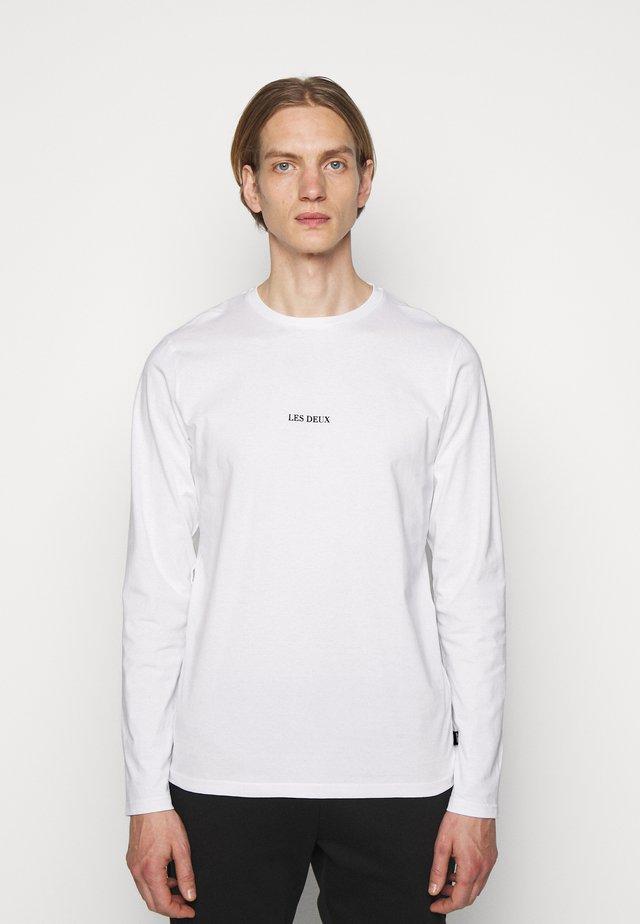 LENS - Long sleeved top - white/black