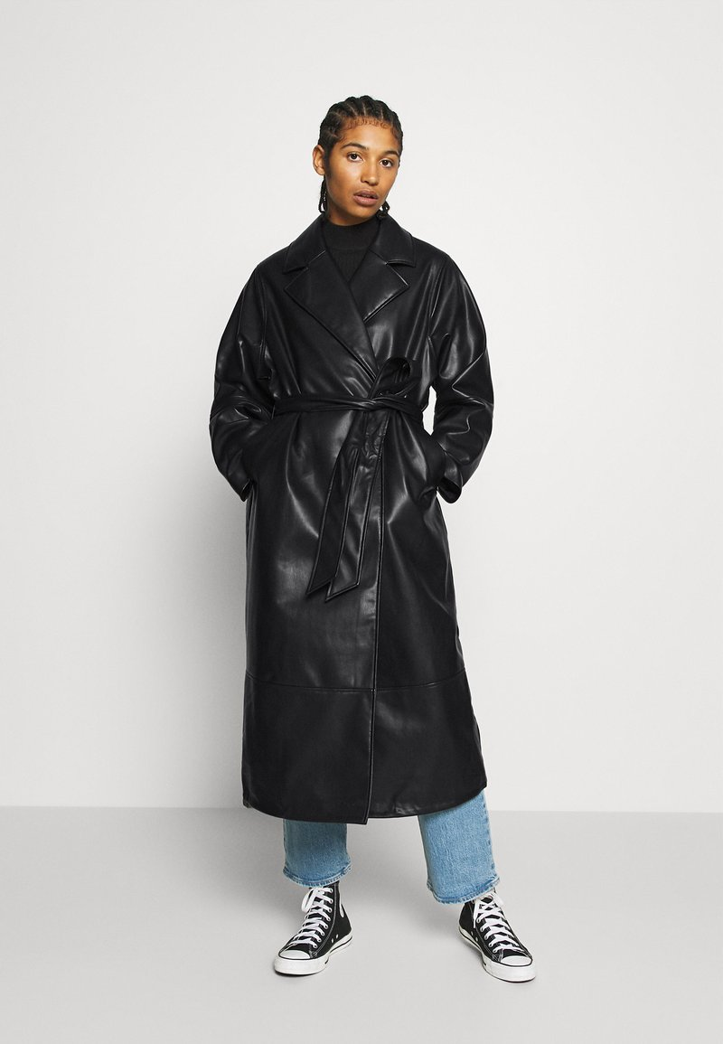 Monki - KYLIE COAT - Kappa / rock - black
